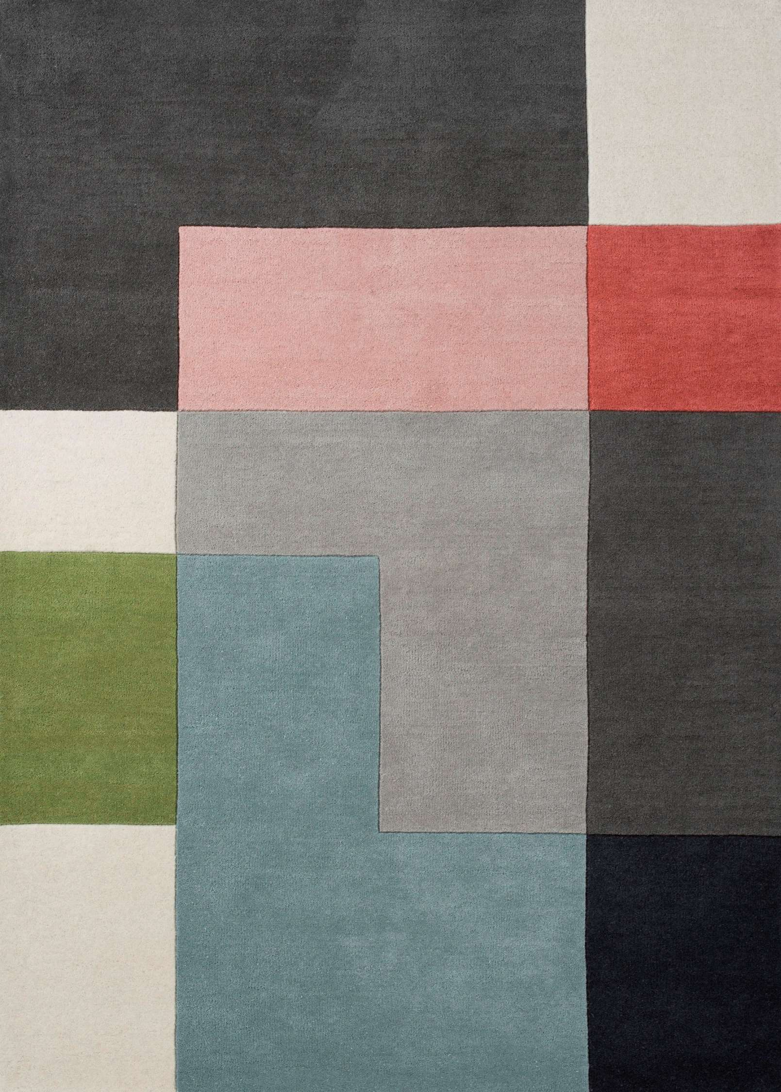 Splinterny Tetris Powder tæppe fra Linie Design - Ullmans Mattor SZ82